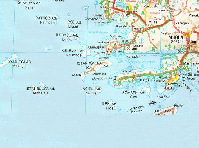Muğla, Harita