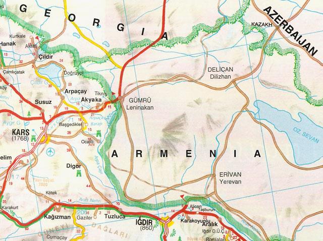 Iğdır, Kars, Harita