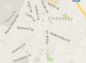 Çerkezköy Haritası