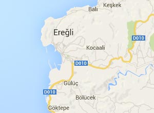 Ereğli (Karadeniz) Haritası