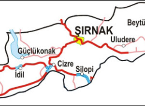 Şırnak Haritası